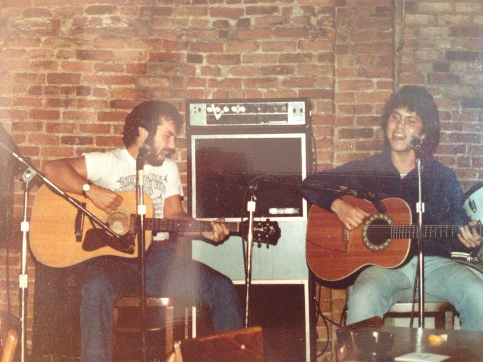 with my brother, Michael Ferrone (The Bitter End, Greenwich Village)