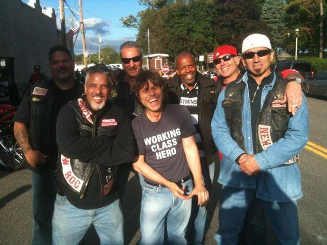 with Hells' Angels