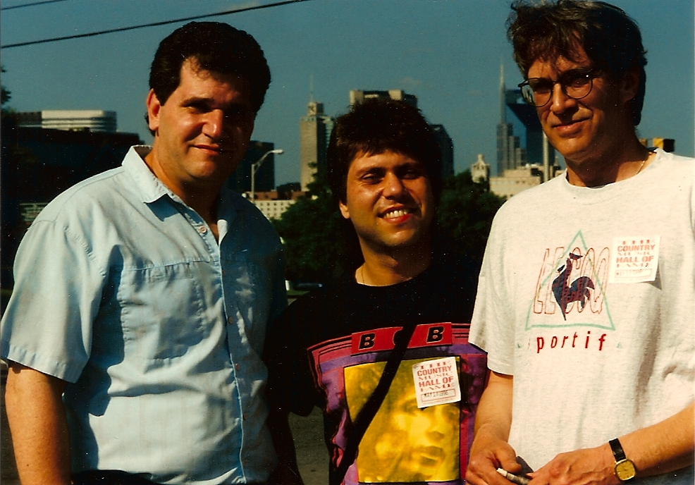 """with Jim Iannuzzelli and Bill """"Bopper"""" Farnie, in Nashville, Tennessee"""