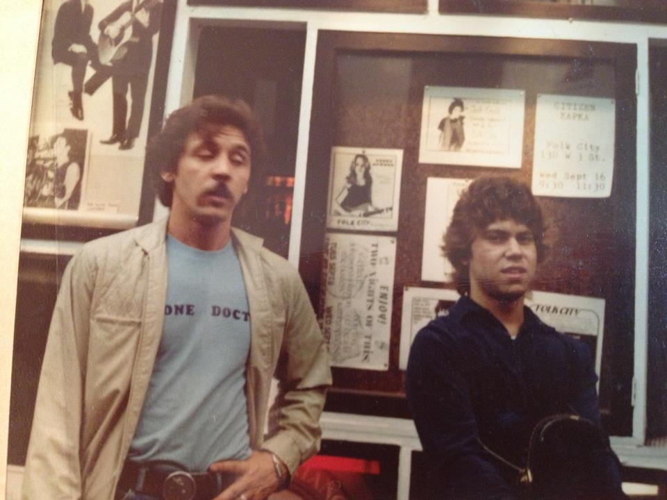 with Dennis MacPherson (Gerde's Folk City, Greenwich Village 1980)